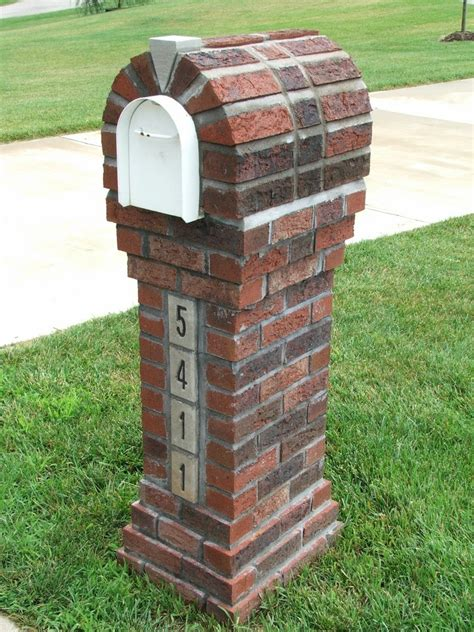 How To Build A Brick Mailbox Stand
