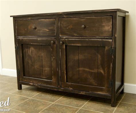 How To Build A Buffet Cabinet Plans