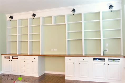 How To Build A Built In Bookcase With Desk