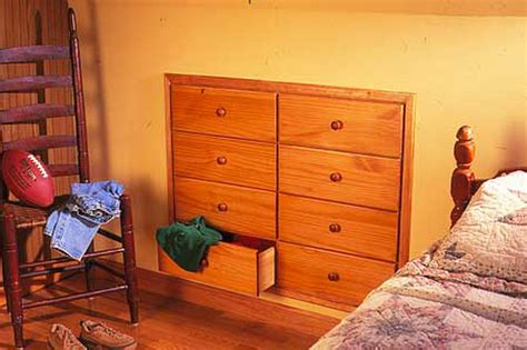 How To Build A Built In Dresser In A Knee Wall