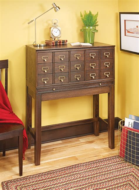 How To Build A Card Catalog Cabinet