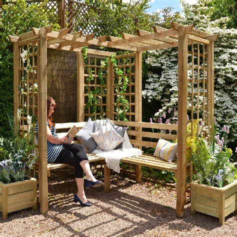 How To Build A Corner Arbour Seat