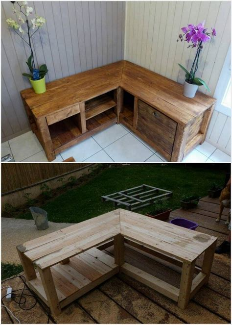 How To Build A Corner Table From Pallet Wood
