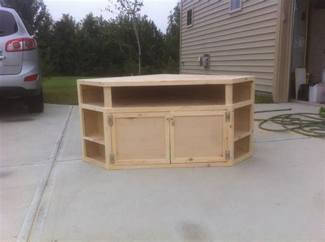 How To Build A Corner Tv Stand Cabinet