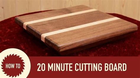 How To Build A Cutting Board Video