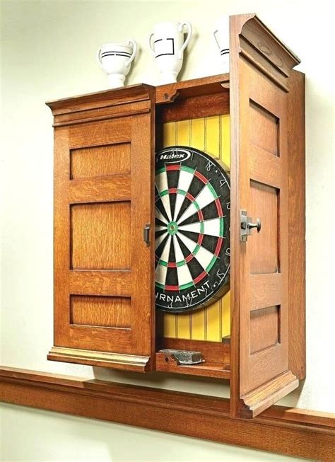 How To Build A Dartboard Cabinet Plans