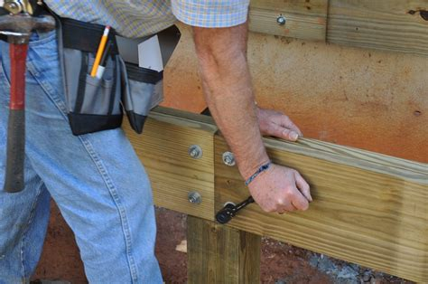 How To Build A Deck Beam With Bolts