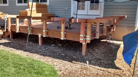 How To Build A Deck Bench Free Standing