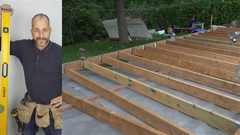 How To Build A Deck Floor 4 Of The Ground