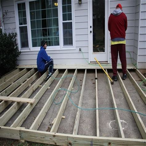 How To Build A Deck Over A Concrete Porch