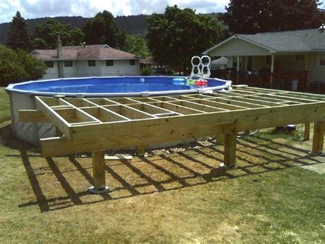 How To Build A Deck Over Pool Ledge