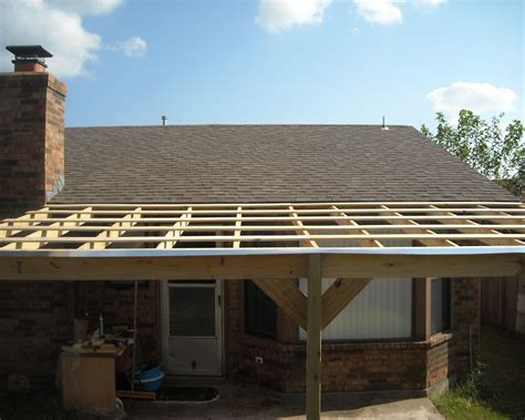How To Build A Deck Roof Using Metal Roofing