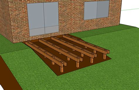 How To Build A Decking Base On Uneven Ground