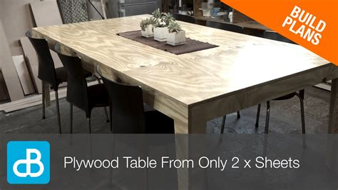 How To Build A Dinner Table Out Of Two Sheets Of Plywood