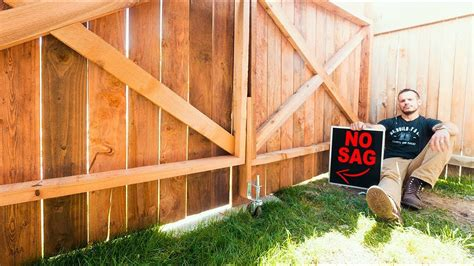 How To Build A Double Gate Wood Fence