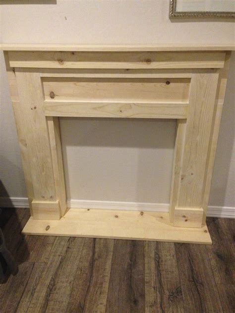 How To Build A Faux Fireplace Mantle