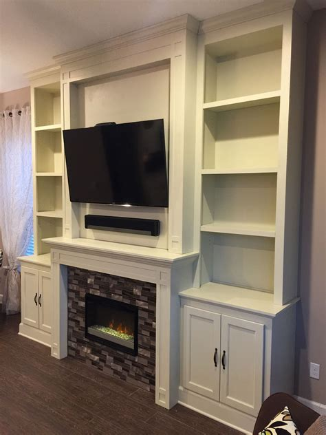How To Build A Fireplace Tv Unit