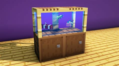 How To Build A Fish Tank In Minecraft With Swimming Fish