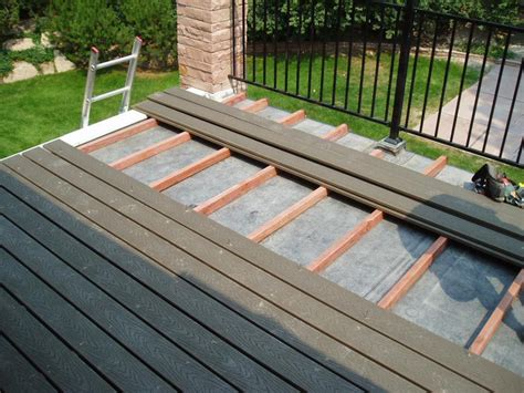 How To Build A Flat Roof Over Deck
