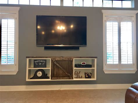How To Build A Floating Media Cabinet