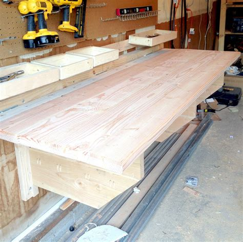 How To Build A Folding Workbench Garage Kits