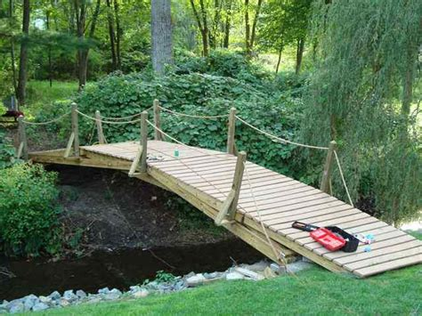 How To Build A Footbridge Over A Wide Creek
