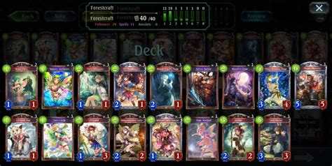 How To Build A Forest Craft Decks Shadowverse