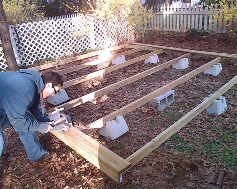 How To Build A Frame For A Deck