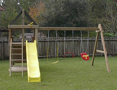 How To Build A Frame Swing Set Plans