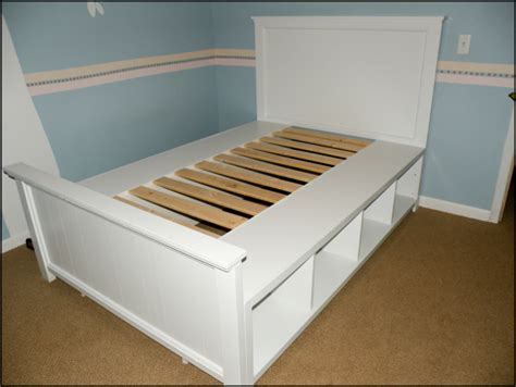 How To Build A Full Size Bed Frame With Storage