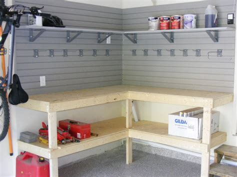 How To Build A Garage Workbench And Shelves
