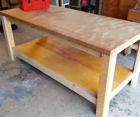 How To Build A Garage Workbench Pics