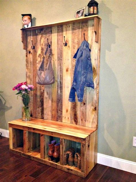 How To Build A Hall Tree From Pallets