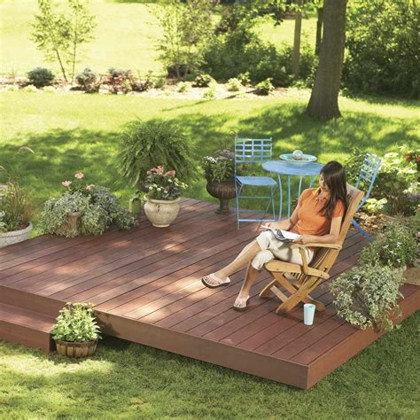 How To Build A Island Deck In Backyard