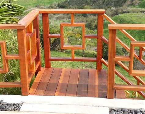 How To Build A Japanese Deck Railings