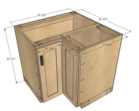 How To Build A Kitchen Base Corner Cabinet