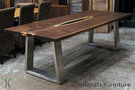 How To Build A Live Edge Slab Table With Metal Legs