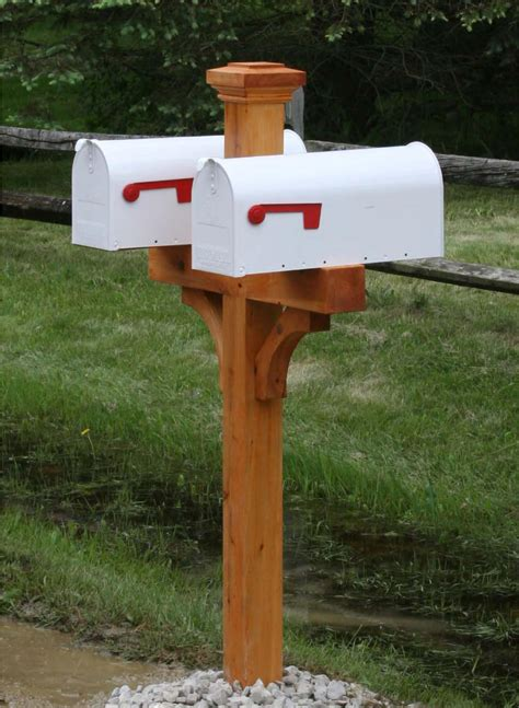 How To Build A Mailbox Post For Multiple Mailboxes Decorative