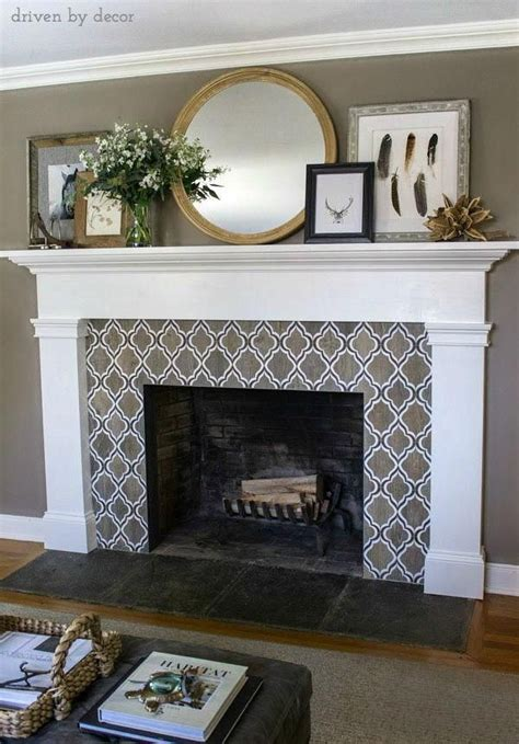 How To Build A Mantel Surround Tile Around Free