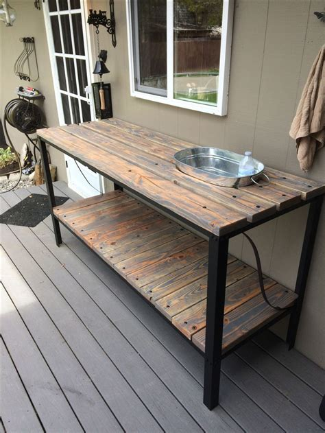 How To Build A Outdoor Buffet Table