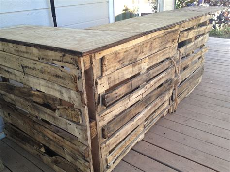 How To Build A Pallet Bar Plans