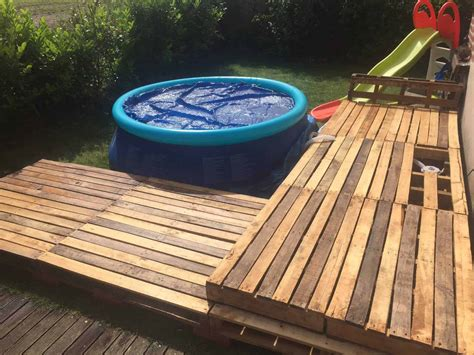 How To Build A Pallet Deck For Pool