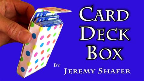 How To Build A Paper Deck Of Cards