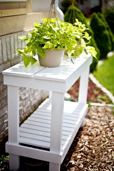 How To Build A Plant Stand Bench