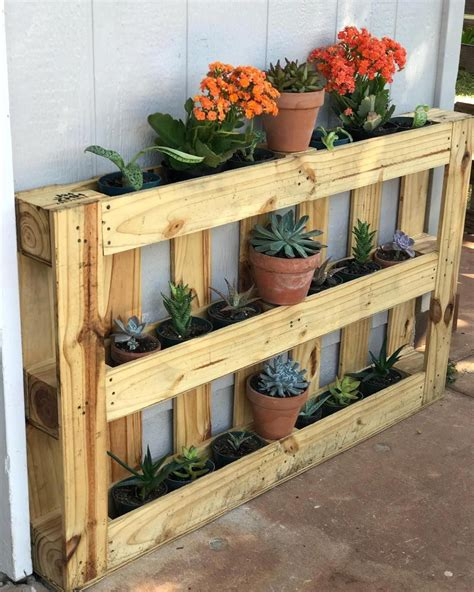 How To Build A Plant Stand Out Of Pallets