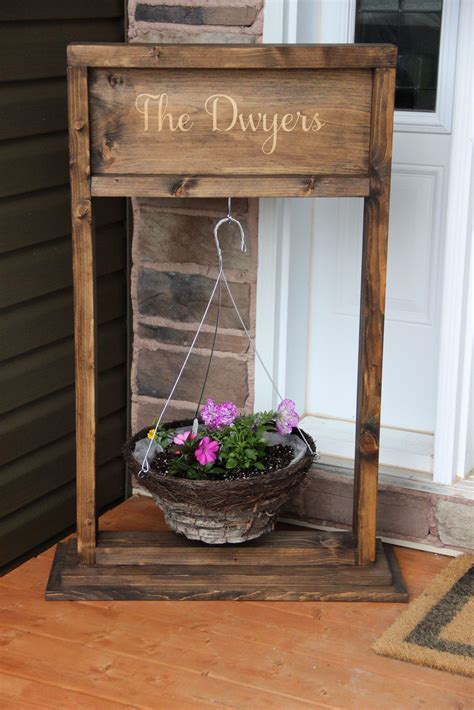 How To Build A Plant Stand With Hanger