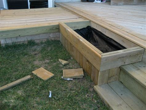 How To Build A Planter Box Next To Deck Steps