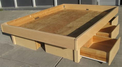 How To Build A Platform Bed With Drawers Plans