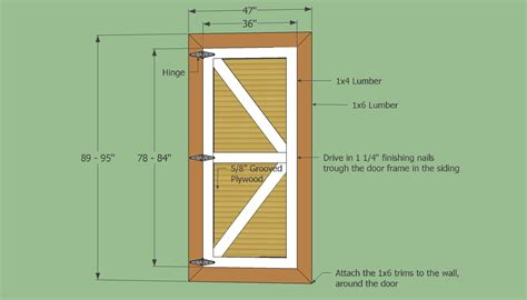 How To Build A Plywood Shed Door