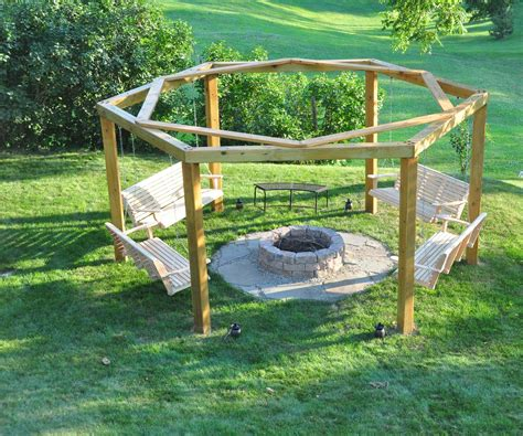 How To Build A Porch Swing Fire Pit